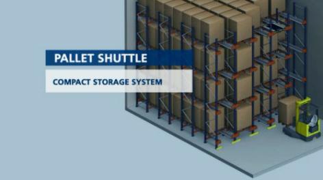 Pallet Shuttle: systeem voor opslag door middel van  compartisering