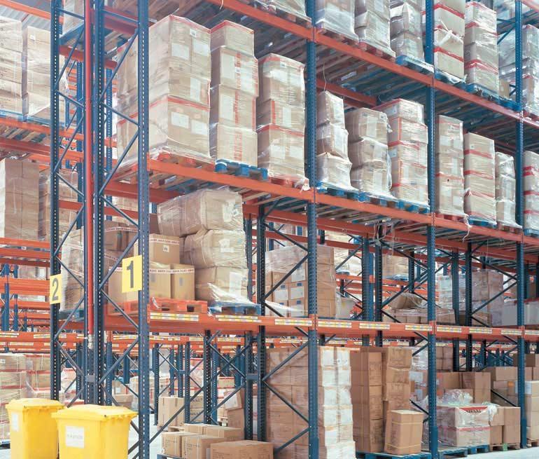 Logistiek magazijn voor de distributie van levensmiddelen