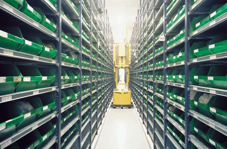 Magazijn voor een producent van elektronische componenten