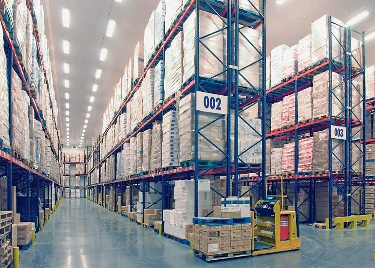 Voorbeeld van orderpicking bij een bedrijf in de transport- en distributiesector