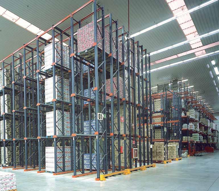 Magazijn van een distributiebedrijf