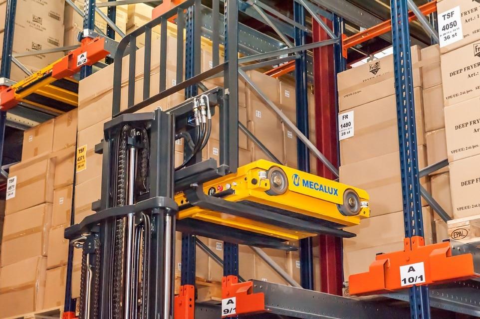 Fritel verbetert zijn magazijn met het Pallet Shuttle-systeem van Mecalux