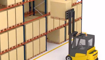 Operation of the pallet racking system.