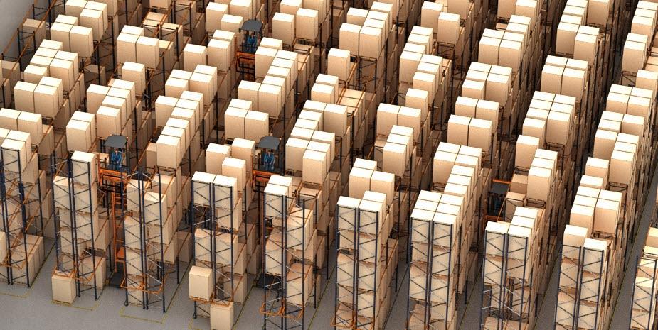 Het magazijn voor pallets van de logistieke dienstverlener Barsan in België