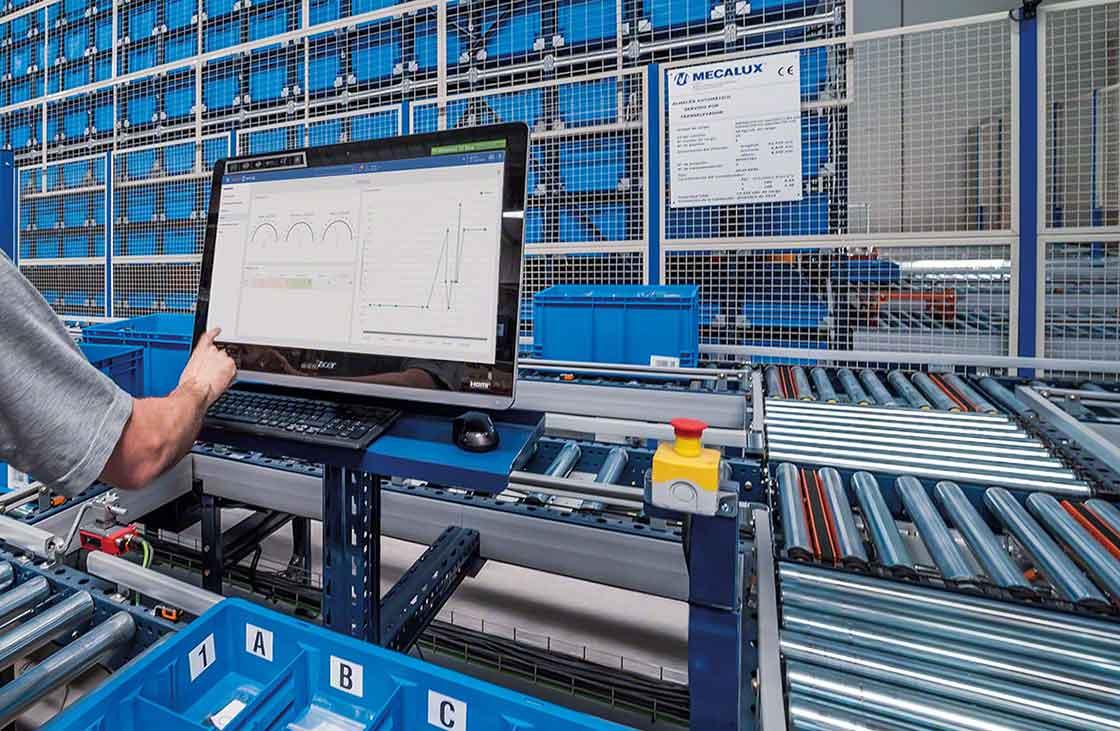 Demo van een warehouse management syteem (WMS)